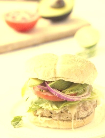 Grilled Turkey Burgers with Greek Yogurt-Based SauceSource